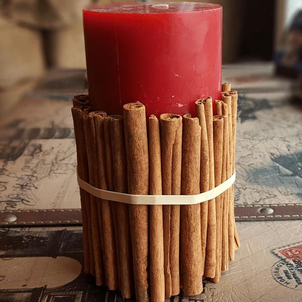 Cinnamon Stick Candle Step 3