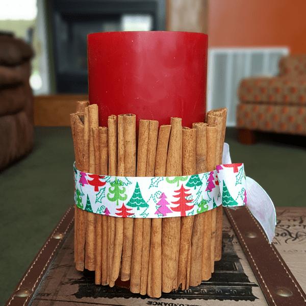 Cinnamon Stick Candle Final Step