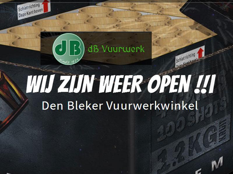 Wij zijn als eerste open met de dB Vuurwerk webwinkel 2018