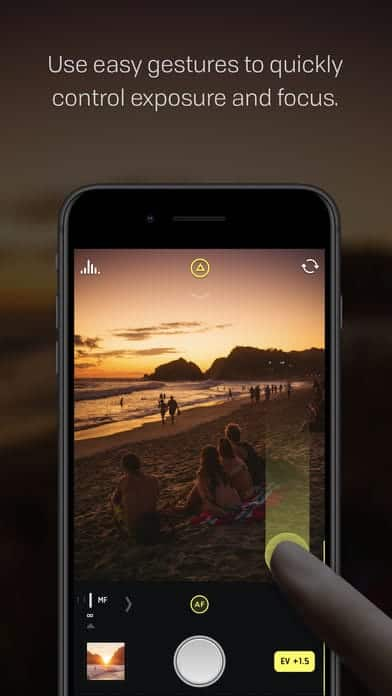 A photo of Halide, Top Mobile App UI of 2017