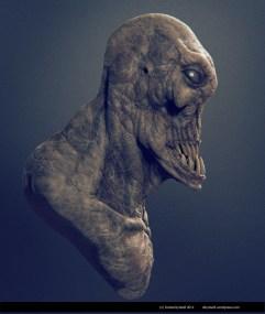 alien fish teeth side