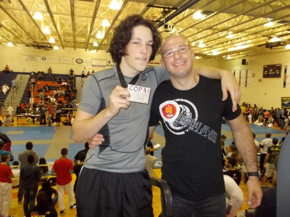 After 3 months of Jiu Jitsu and 3 fights, Troy earns with silver medal!