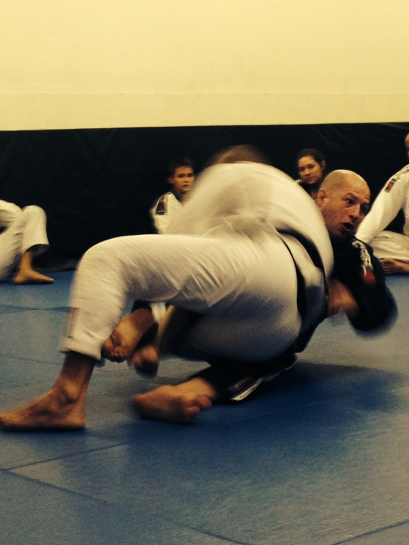 Sweeping Professor Dema?? Nope, just showing a move!
