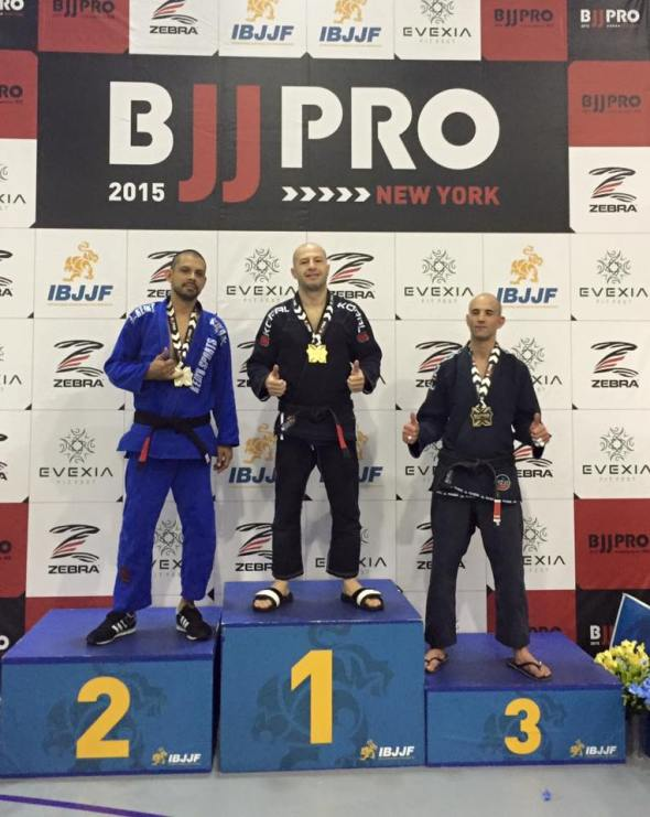 Dimitri winning the gold medal at NYBJJPRO