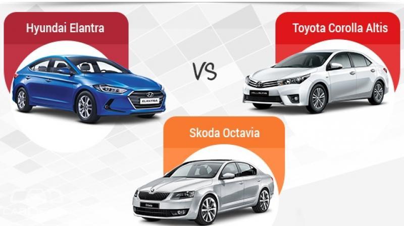 new corolla altis vs skoda octavia perbedaan grand avanza e dan g 2017 d segment sedans face off hyundai elantra toyota while the and offer a petrol diesel engine each