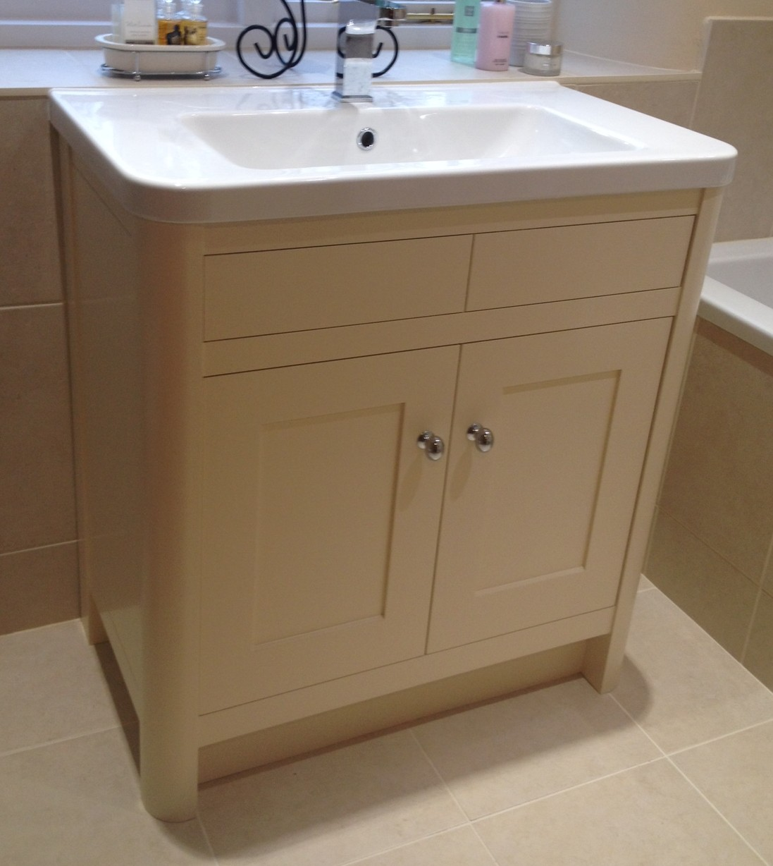 Painted Bathroom Vanity Bespoke Bathroom Vanity Units Oak And Painted Dc Furniture