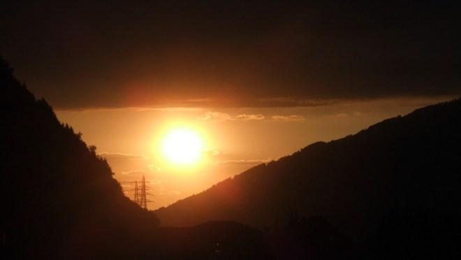 Abendsonne über Goldau