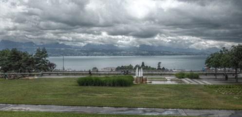 Lausanne, Lac Léman, Blick nach Evian-les-Bains