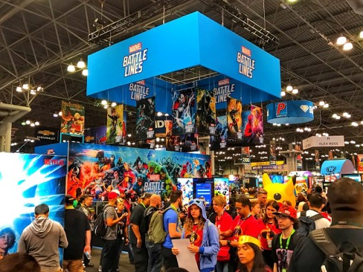 Marvel Battle Lines Booth at NYCC
