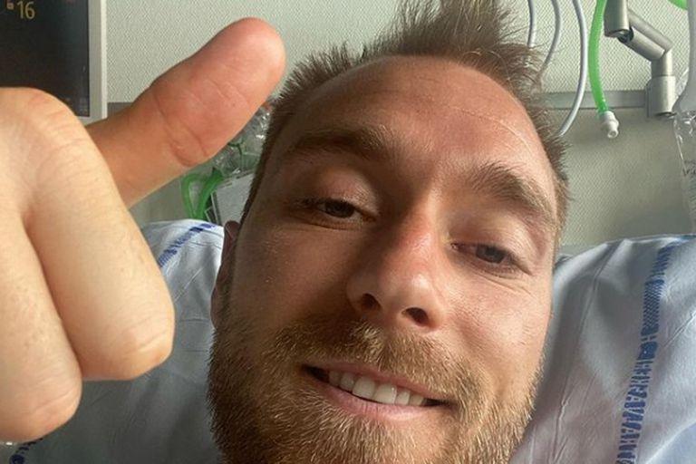 """El mensaje de Eriksen desde el hospital: """"Estoy bien, dadas las circunstancias"""""""