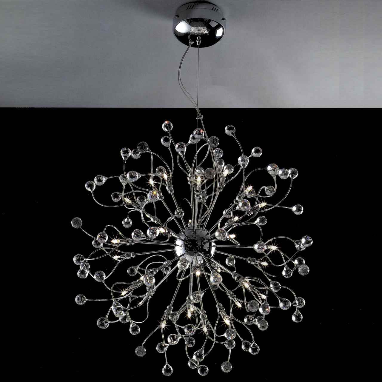Brizzo Lighting Stores 30quot Sfera Modern Crystal Round