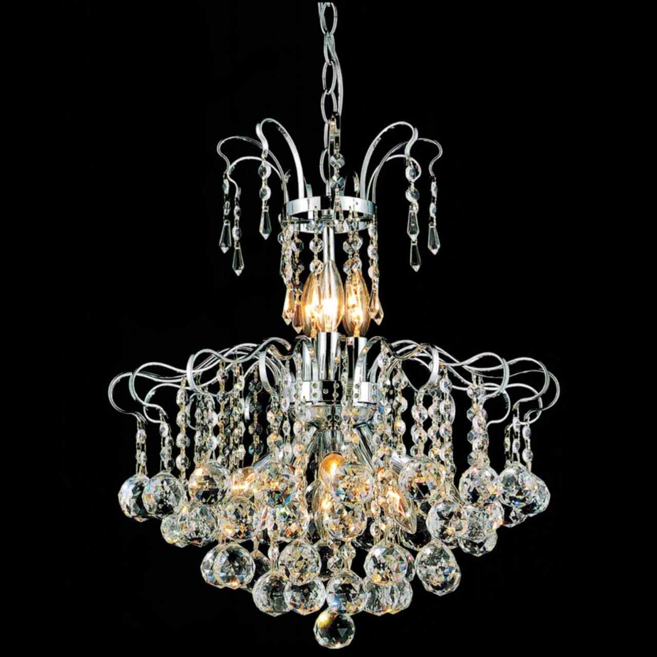 "Brizzo Lighting Stores. 18"" Formosa Crystal Round"