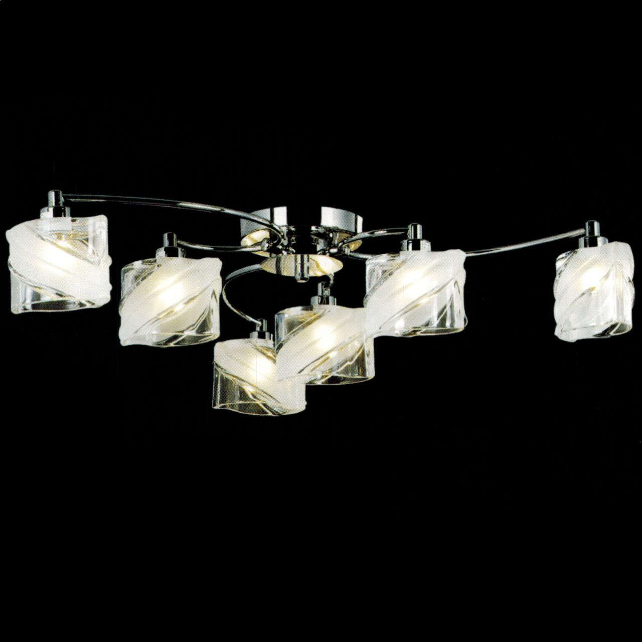 Brizzo Lighting Stores 29 Blocchi Modern Round Flush Mount Chrome  Gold Finish Clear  White