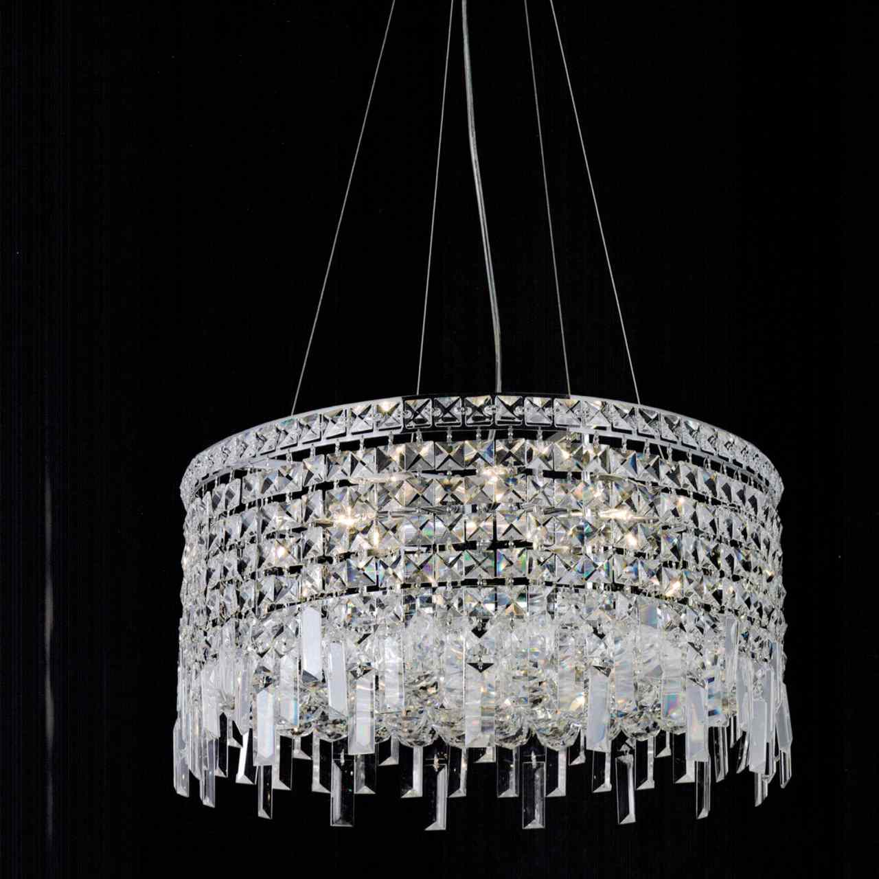 "Brizzo Lighting Stores. 16"" Bossolo Transitional Crystal"