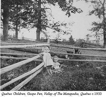 Quebec Children, Gaspe Pen, Valley of The Matapedia, Quebec, Canada by Lida Moser