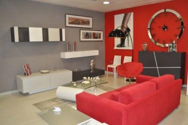 cuadros gris rojo decorar salon casa ambientes