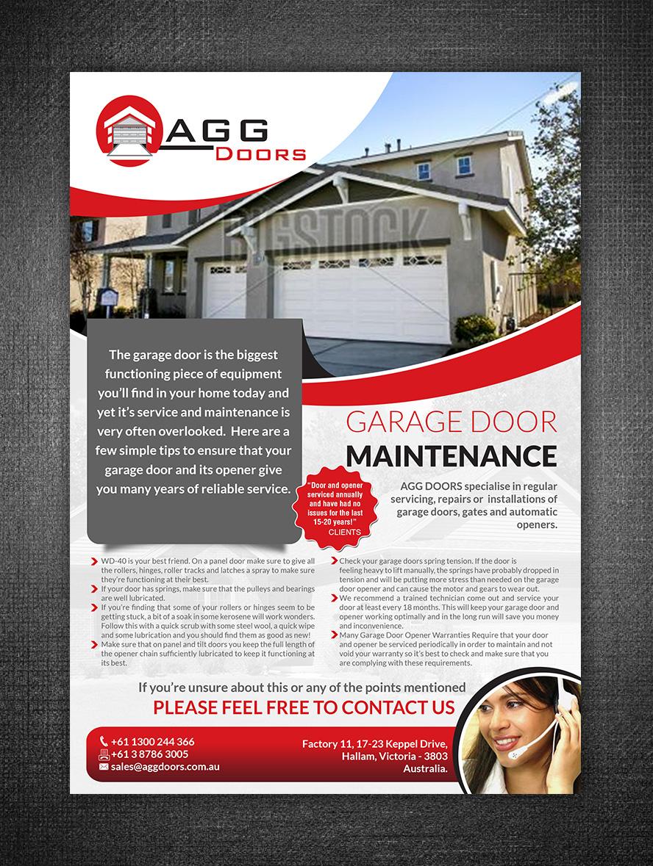 Elegant Playful Garage Flyer Design For AGG DOORS PTY