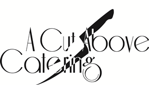 Chef Logo Design for A Cut Above Catering by James