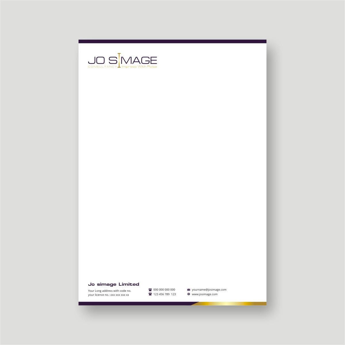 it company letterhead design