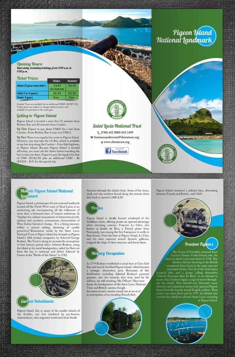 Bold Upmarket Advertising Brochure Design For SAINT LUCIA NATIONAL