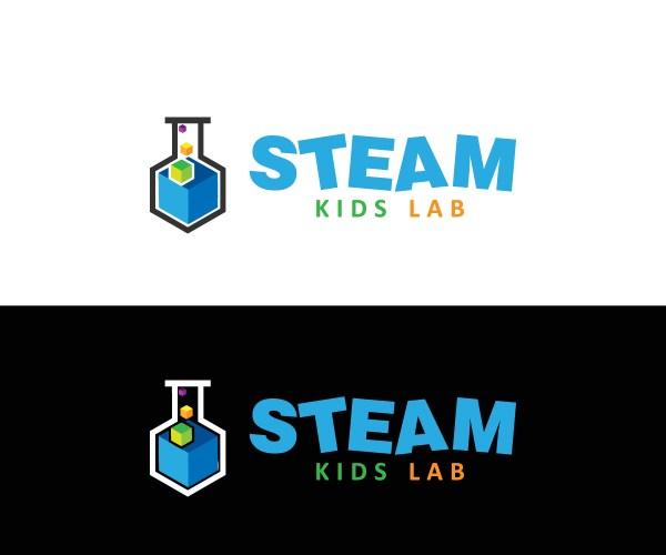 Playful Elegant Logo Design Steam Kids Lab Imagine
