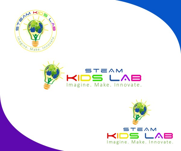 Playful Elegant Marketing Logo Design Steam Kids Lab