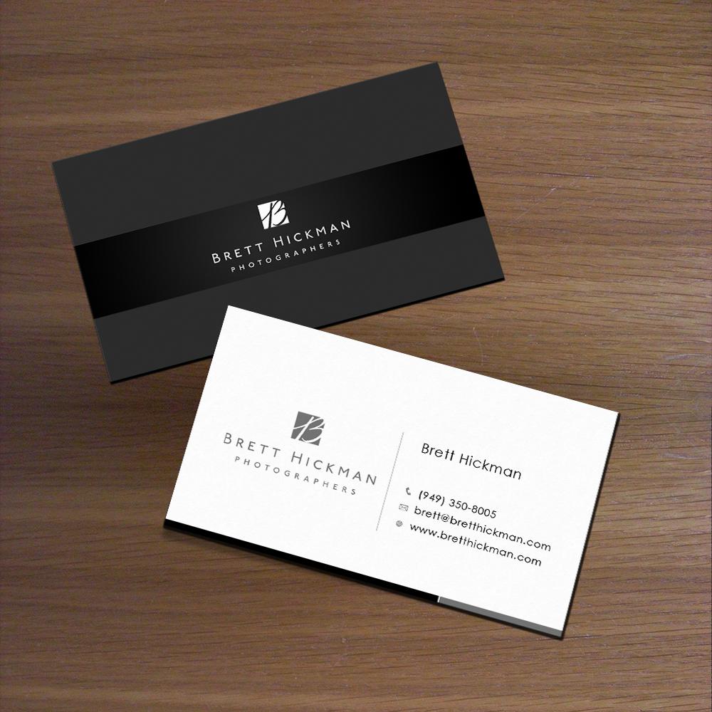 Upmarket Elegant Wedding Business Card Design for Brett Hickman Photographers by Satyajit Sil
