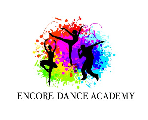 Elegant Colorful Dance Studio Logo Design Encore