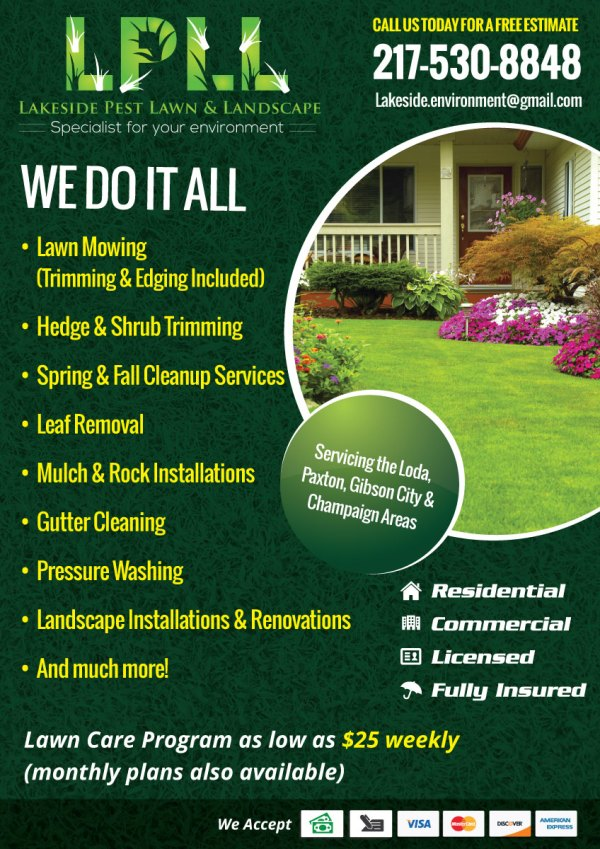 colorful professional lawn care