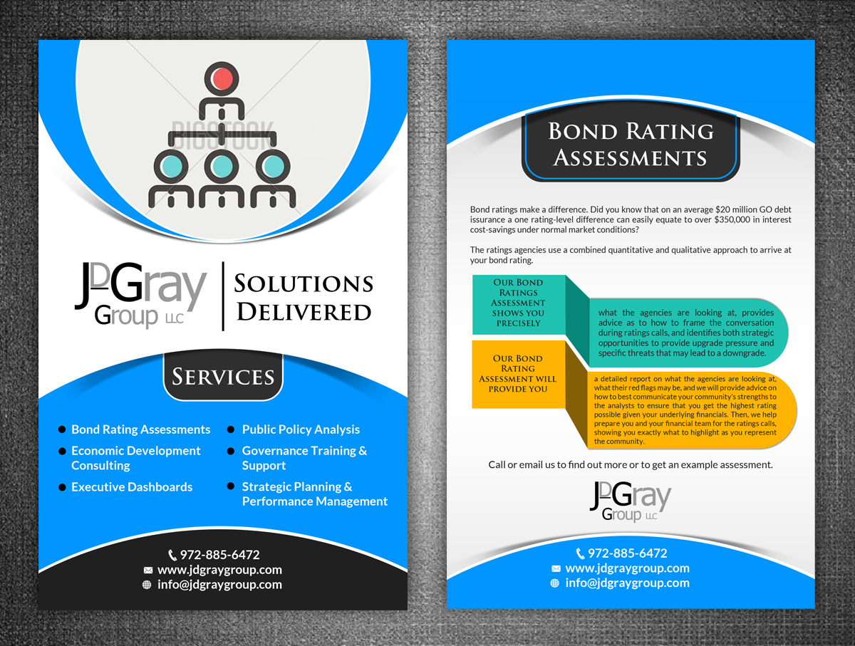 Professional Serious Marketing Flyer Design For JDGray Group LLC