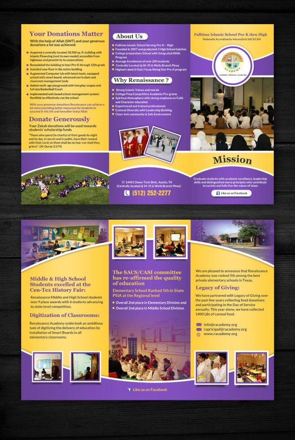 Elegant Modern School Brochure Design Company