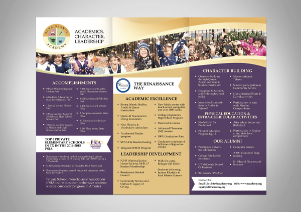 Elegant Modern School Brochure Design