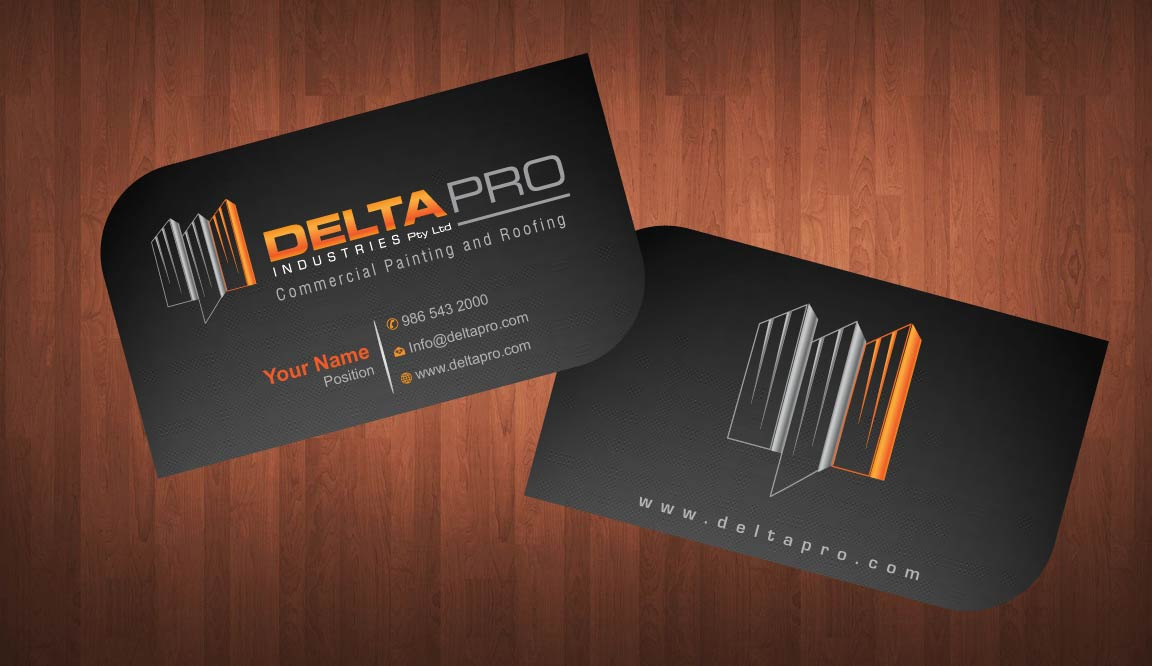 Elegant Serious Construction Business Card Design for