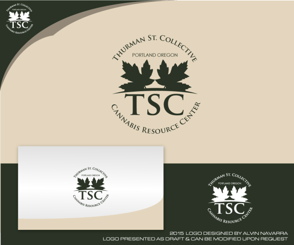Traditional Elegant Art Logo Design Thurman St. Collective Tsc Cannabis Resource