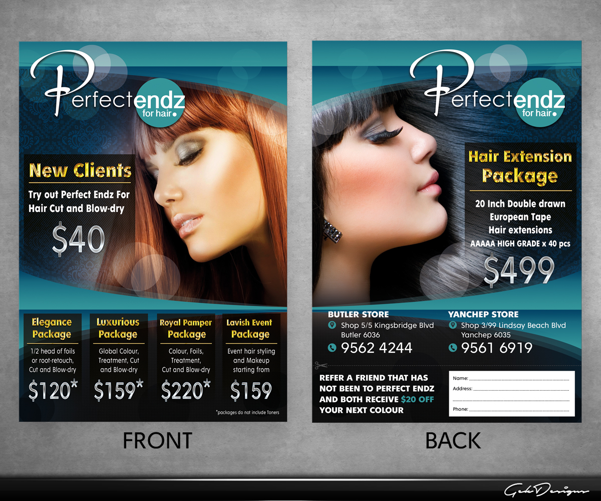 Elegant Modern Hair Flyer Design For A Company By GEK