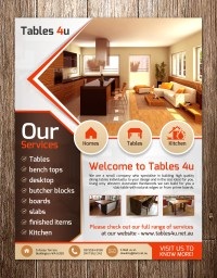 Furniture Flyer Design for a Company by debdesign | Design ...