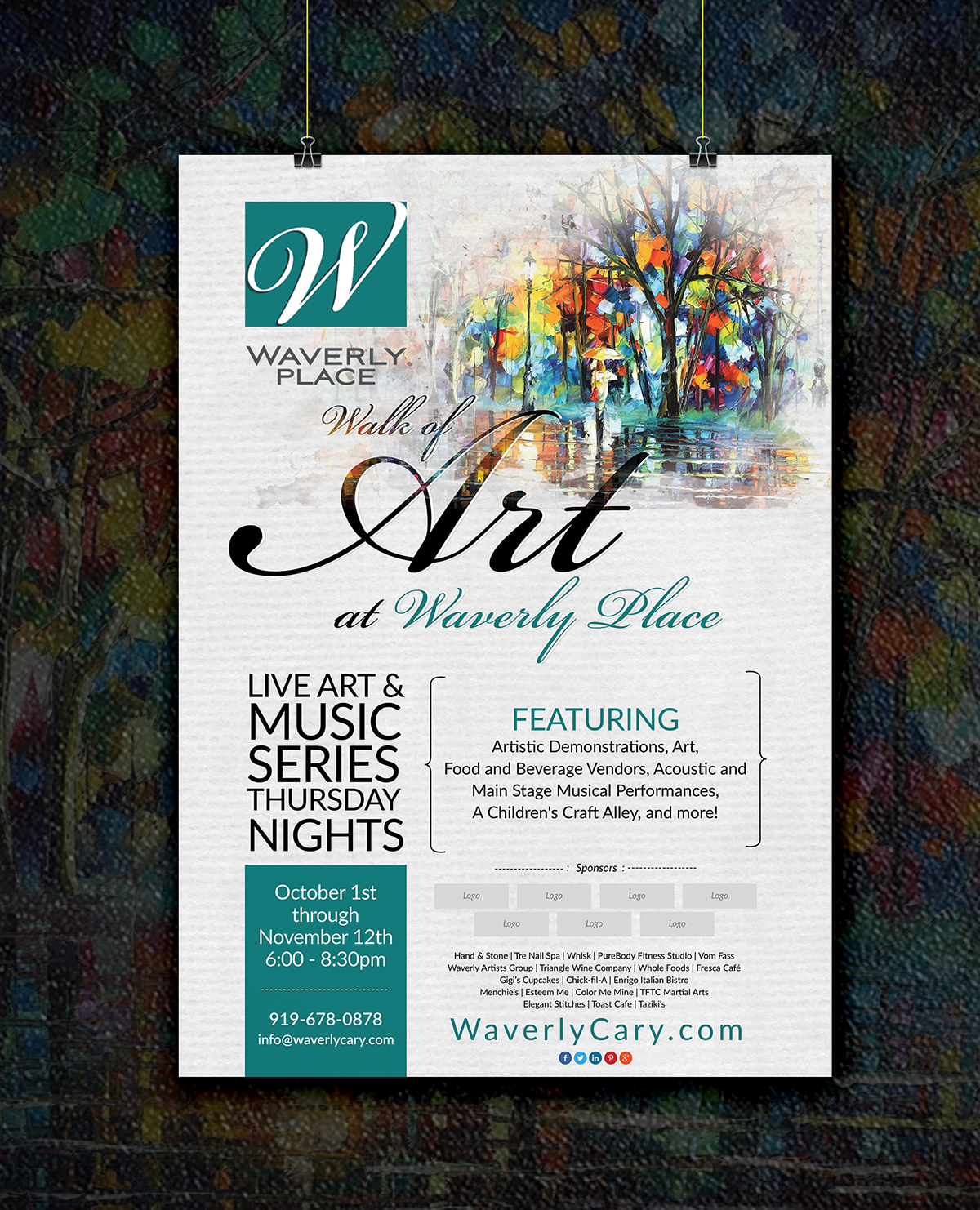 event flyer and poster
