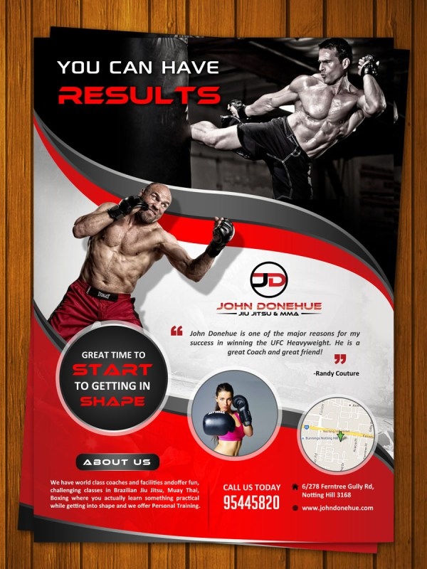 Bold Modern Fitness Flyer Design Business In Australia