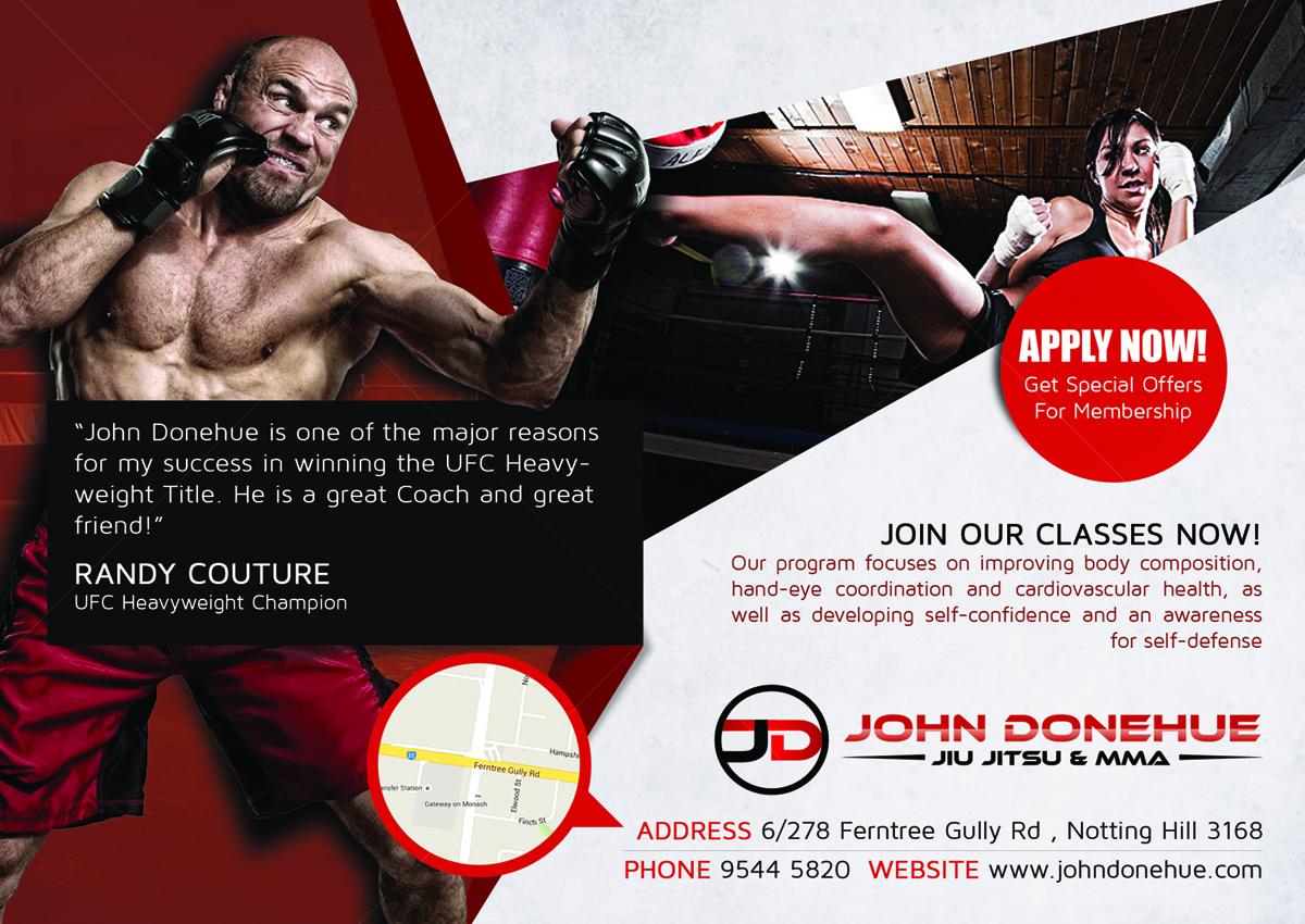 Bold, Modern, Fitness Flyer Design for John Donehue Jiu Jitsu & MMA ...