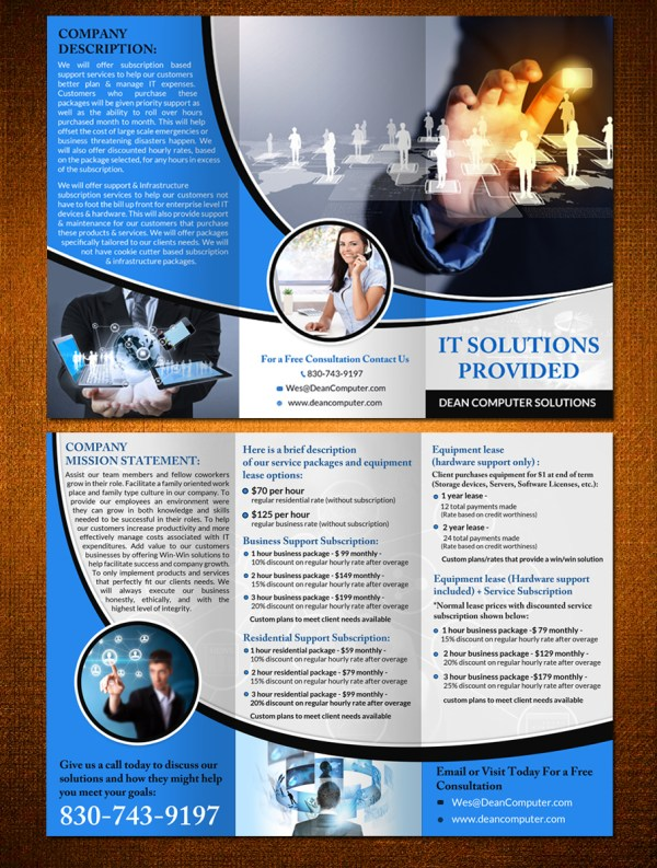 Modern Professional Information Technology Brochure