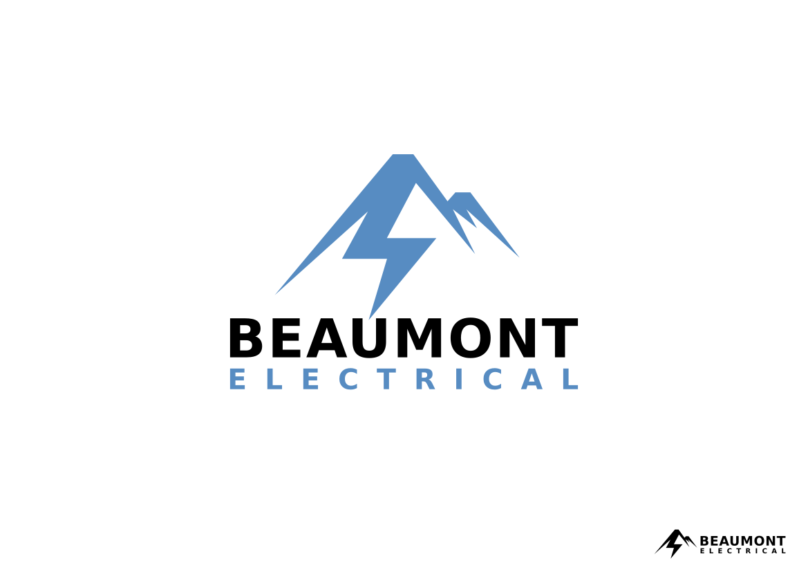 Bold Modern Electrical Logo Design For Beaumont