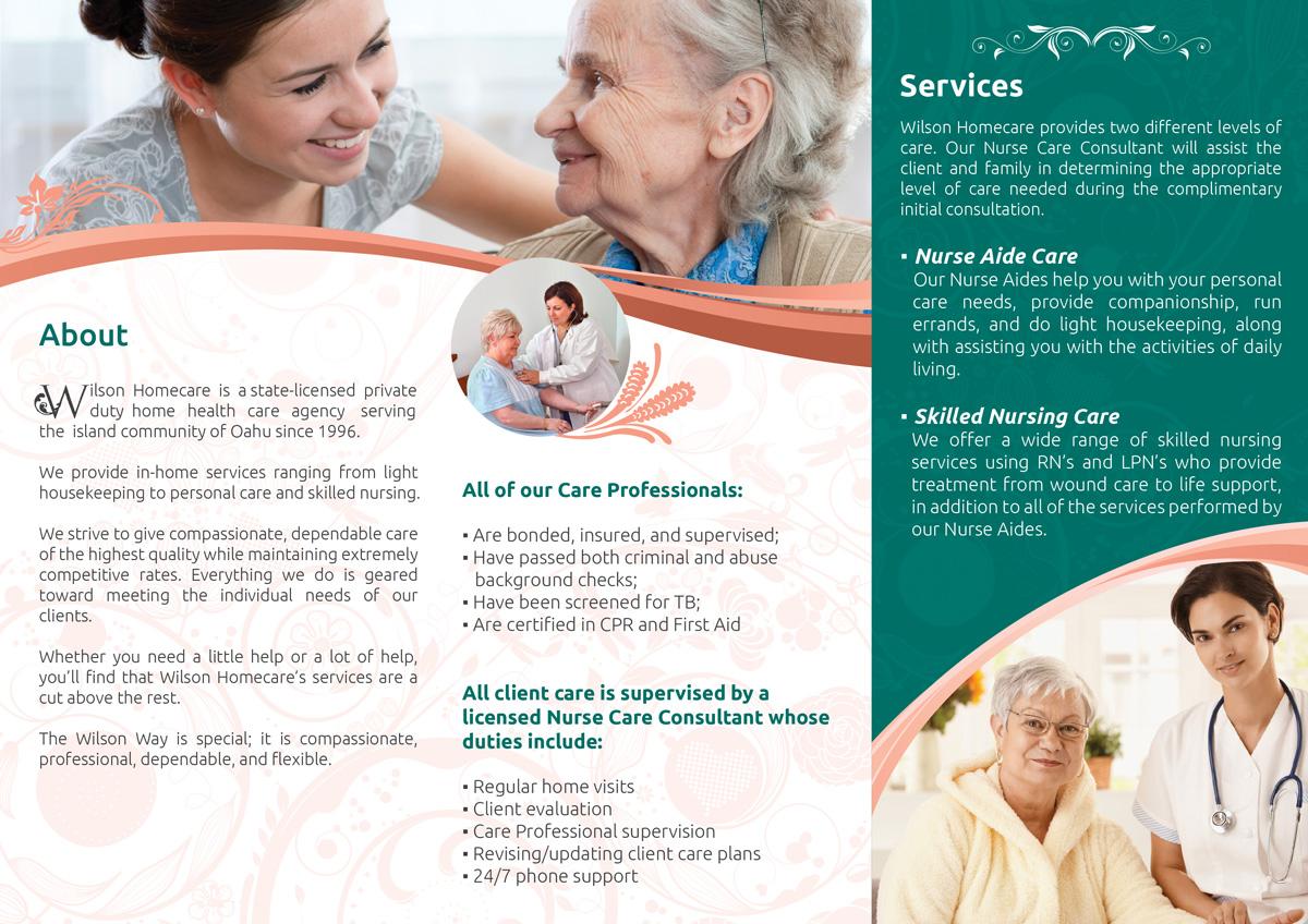 Serious Upmarket Healthcare Brochure Design For Wilson