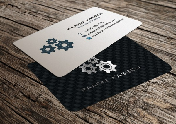 Mechanical Engineer Business Card Design Unemployed 41