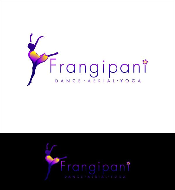 Bold Playful Dance Studio Logo Design Frangipani