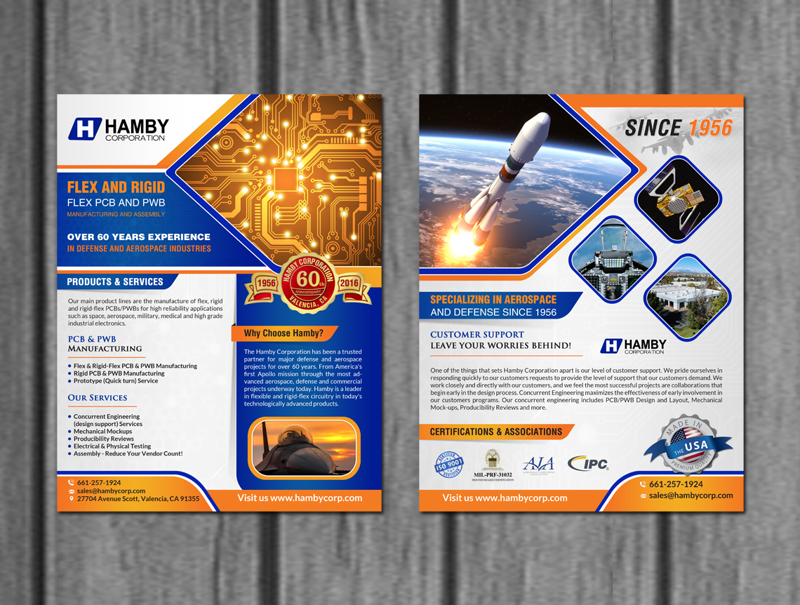Elegant Playful Defense Flyer Design For Hamby