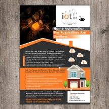 Modern Colorful Home And Garden Flyer Design