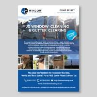 Modern, Elegant, Window Cleaning Flyer Design for JG ...