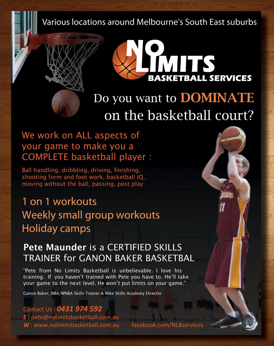 Flyer Design By Theblueart For No Limits Basketball Services | Design  #2237058