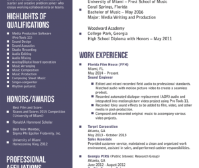 Resume Design By Alhemique1