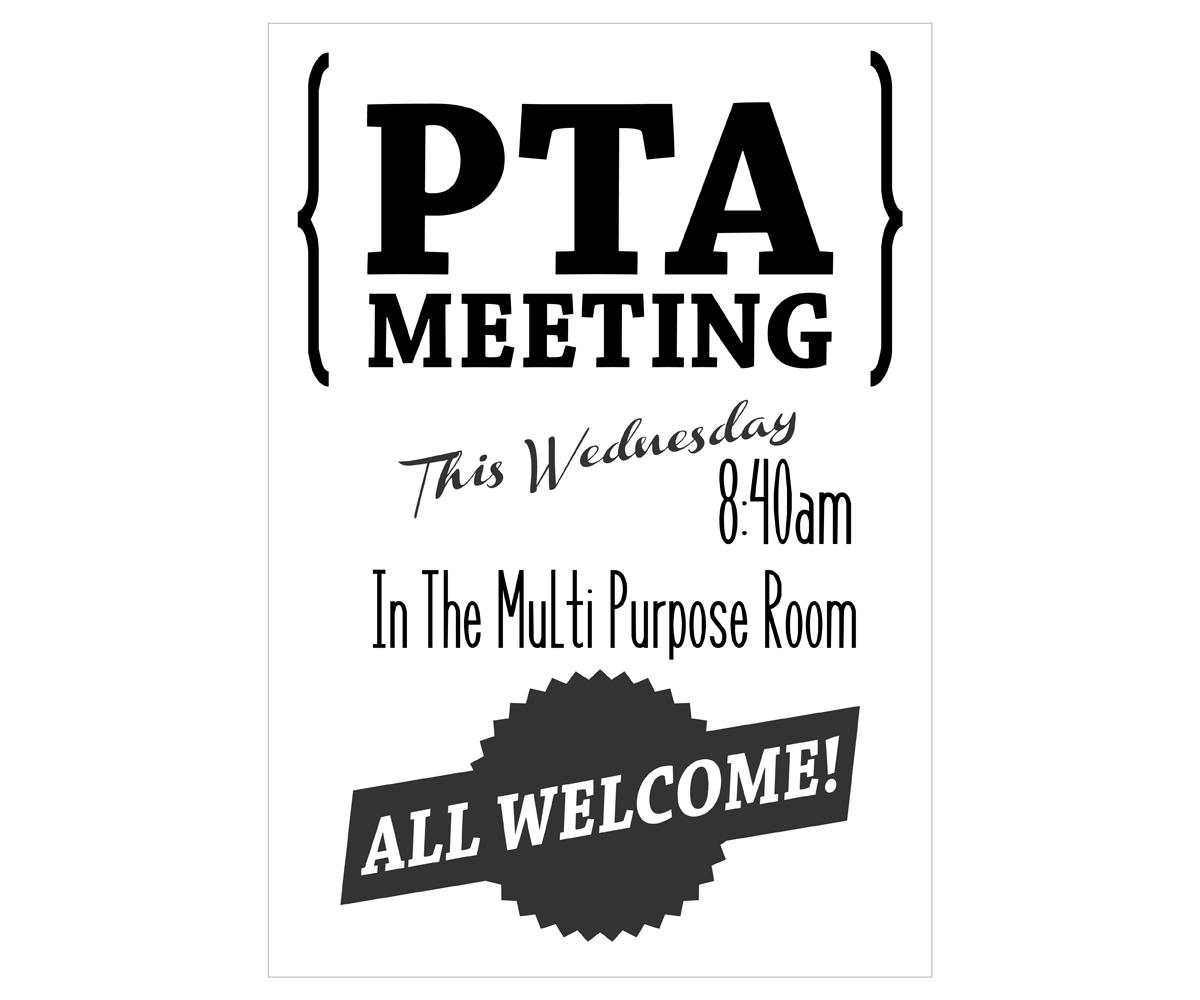 Pta Meeting Format